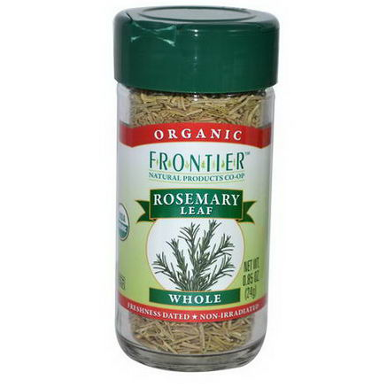 Frontier Natural Products, Organic Rosemary Leaf, Whole, 0.85oz (24g)