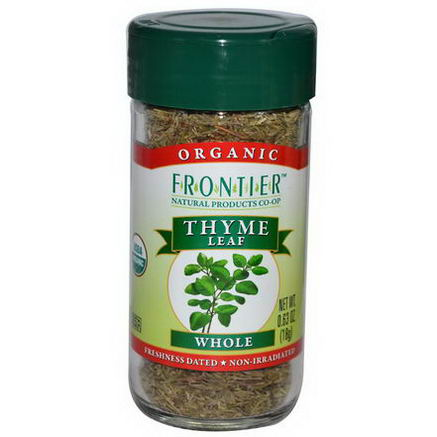 Frontier Natural Products, Organic Thyme Leaf, Whole, 0.63oz (18g)