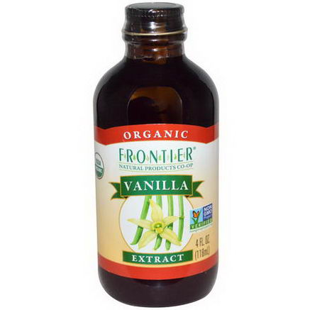 Frontier Natural Products, Organic, Vanilla Extract, 4 fl oz (118 ml)