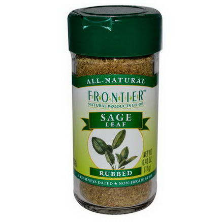 Frontier Natural Products, Sage Leaf, Rubbed, 0.40oz (11g)