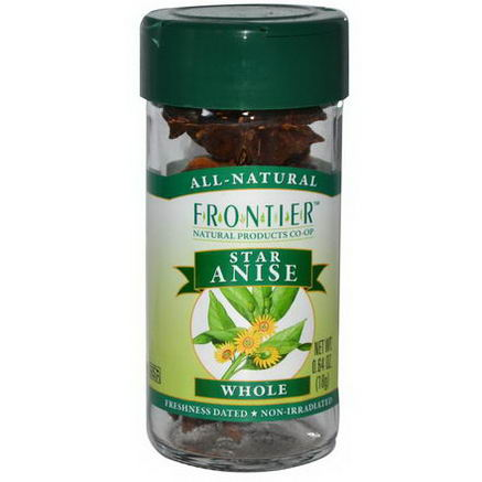 Frontier Natural Products, Star Anise, Whole, 0.64oz (18g)