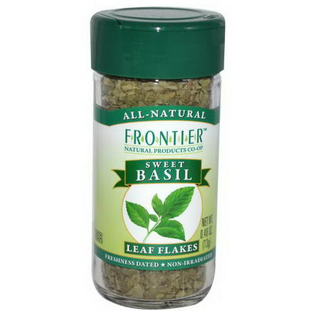 Frontier Natural Products, Sweet Basil, Leaf Flakes, 0.48oz (13g)