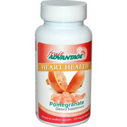 Fruit Advantage, Heart Health Pomegranate, 435mg, 60 Easy-to-Swallow Capsules