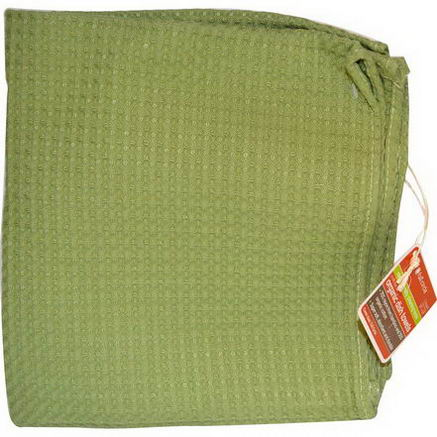 Full Circle Home LLC, In The Buff, Organic Dish Towels, Green, 1 Towel, 16