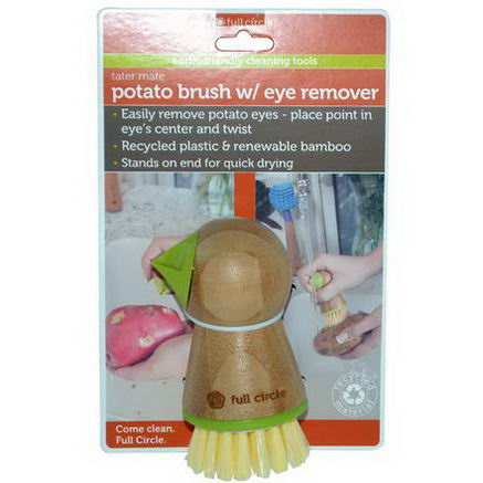Full Circle Home LLC, Tater Mate, Potato Brush w/Eye Remover, 1 Brush