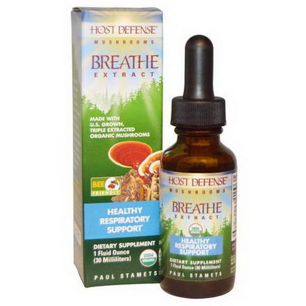 Fungi Perfecti, Host Defense, Breathe Extract, 1 fl oz (30 ml)