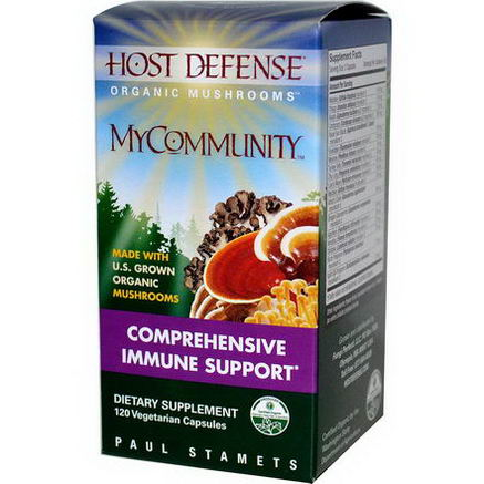 Fungi Perfecti, Host Defense, MyCommunity, 120 Veggie Caps
