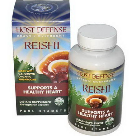 Fungi Perfecti, Host Defense, Reishi, 120 Veggie Caps
