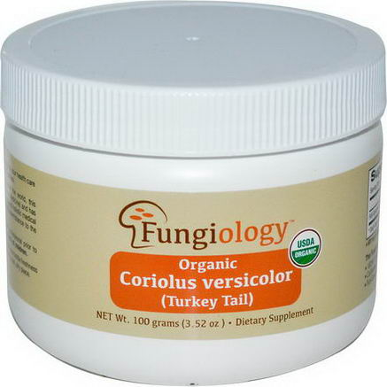 Fungiology, Organic Coriolus Versicolor (Turkey Tail), 3.52oz (100g) Powder