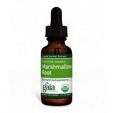 Gaia Herbs, Certified Organic, Marshmallow Root, 1 fl oz (30 ml)