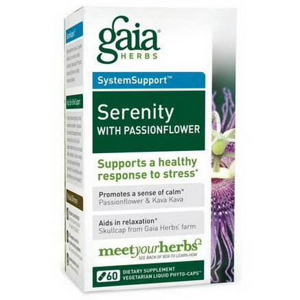 Gaia Herbs, Serenity with Passionflower, 60 Veggie Liquid Phyto-Caps