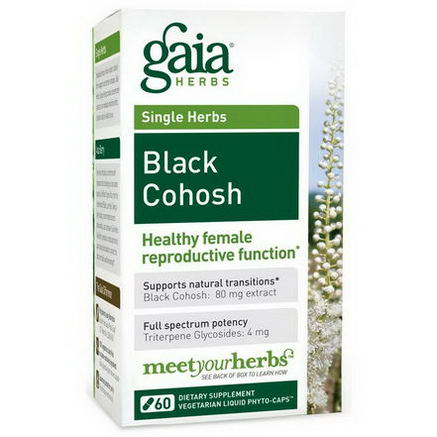 Gaia Herbs, Single Herbs, Black Cohosh, 60 Vegetarian Liquid Phyto-Caps