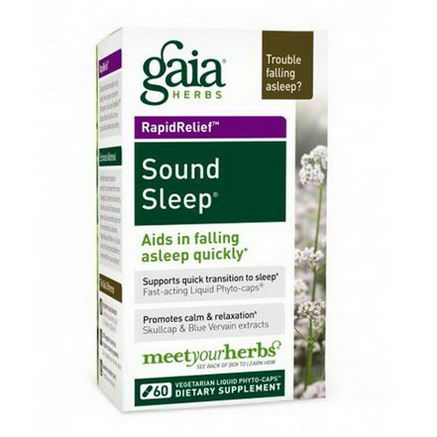 Gaia Herbs, Sound Sleep, 60 Vegetarian Liquid Phyto-Caps