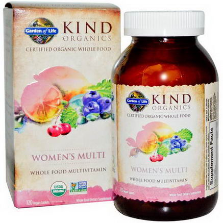 Garden of Life, KIND Organics, Women's Multi, 120 Vegan Tablets