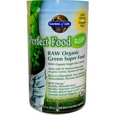 Garden of Life, Perfect Food, RAW Organic Green Super Food, 8.5oz (240g)