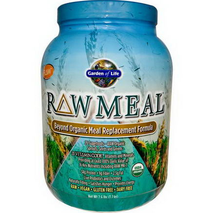 Garden of Life, RAW Meal, Beyond Organic Meal Replacement Formula, 2.6 lbs (1.2 kg)