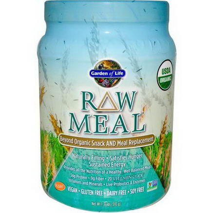 Garden of Life, RAW Meal, Beyond Organic Snack and Meal Replacement, 1.31 lbs (593g)