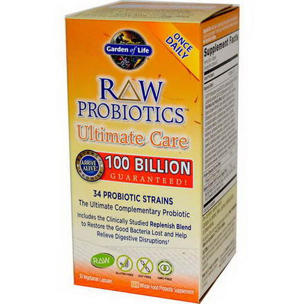Garden of Life, RAW Probiotics, Ultimate Care, 30 Veggie Caps (Ice)