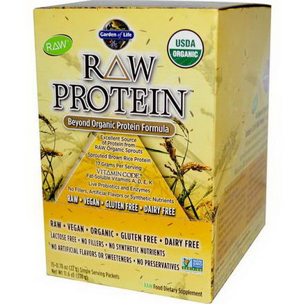 Garden of Life, RAW Protein, Beyond Organic Protein Formula, 15 Packets, 0.78oz (22g) Each