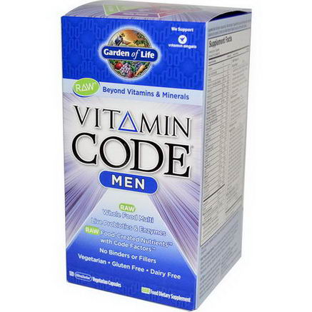 Garden of Life, Vitamin Code, Men, 120 UltraZorbe Veggie Caps