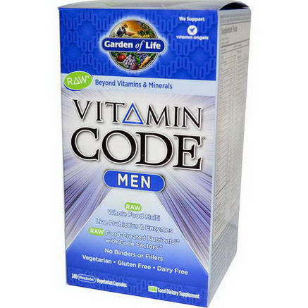 Garden of Life, Vitamin Code, Men, 240 UltraZorbe Veggie Caps