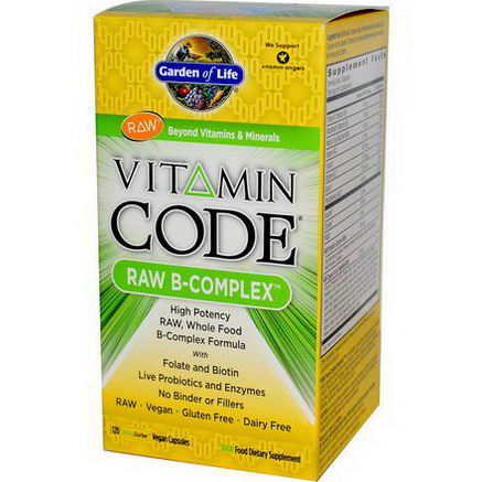 Garden of Life, Vitamin Code, Raw B-Complex, 120 UltraZorbe Vegan Caps