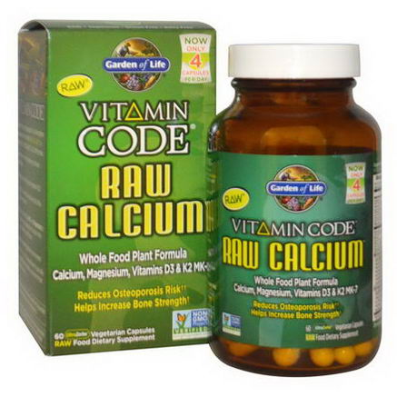 Garden of Life, Vitamin Code, Raw Calcium, 60 Veggie Caps