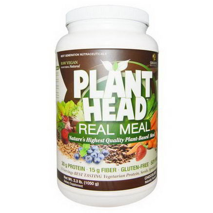 Genceutic Naturals, Plant Meal, Real Meal, Chocolate, 2.3 lb (1050g)