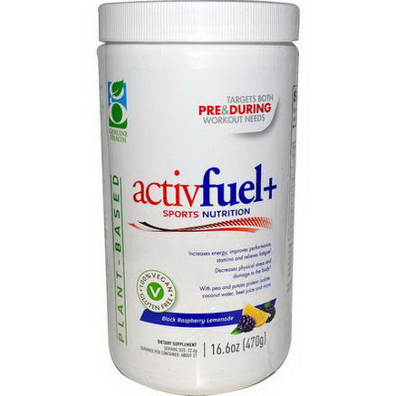 Genuine Health Corporation, ActivFuel+ Sport Nutrition, Black Raspberry Lemonade, 16.6oz (470g)