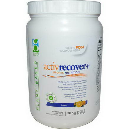 Genuine Health Corporation, Active Recovery +, Orange, 29.6oz (720g)