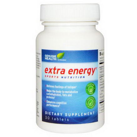 Genuine Health Corporation, Extra Energy, 30 Tablets