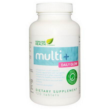 Genuine Health Corporation, Multi+ Daily Glow, 120 Tablets