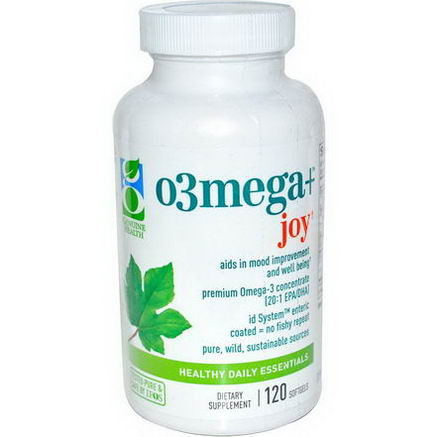 Genuine Health Corporation, O3mega + Joy, 120 Softgels