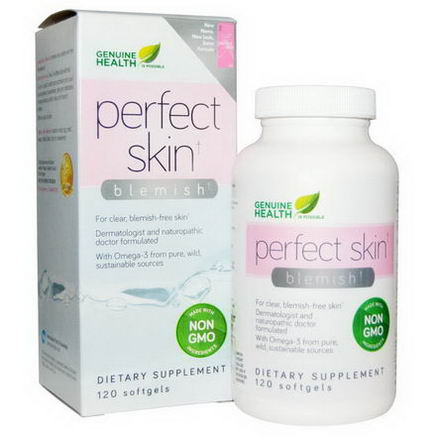 Genuine Health Corporation, Perfect Skin, Blemish, 120 Softgels