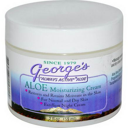George's Aloe Vera, Aloe Moisturizing Cream, 2 fl oz (59 ml)
