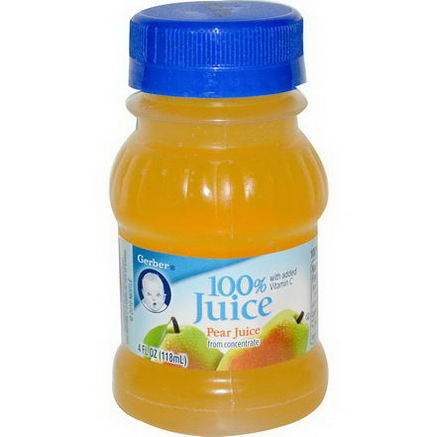 Gerber, 100% Juice, Pear, 4 fl oz (118 ml)
