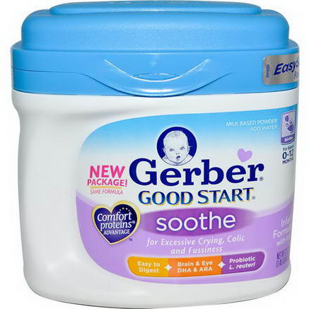 Gerber, Good Start, Soothe, Infant Formula w/Iron, Birth+, 23.2oz (657g)