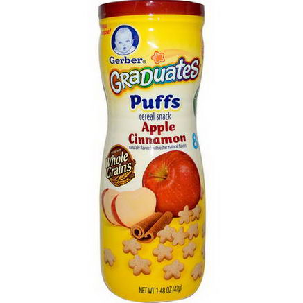 Gerber, Graduates Puffs, Apple Cinnamon, 1.48oz (42g)