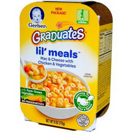 Gerber, Graduates for Toddlers, Lil' Meals, Mac & Cheese with Chicken & Vegetables, 6oz (170g)