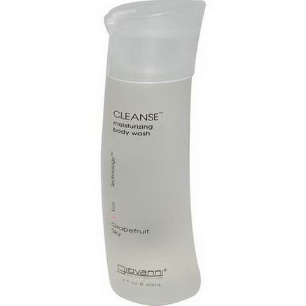 Giovanni, Cleanse Moisturizing Body Wash, Grapefruit Sky, 2 fl oz (60 ml)