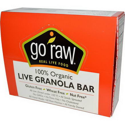 Go Raw, Organic Live Granola Bar, 10 Bars, 14g Each
