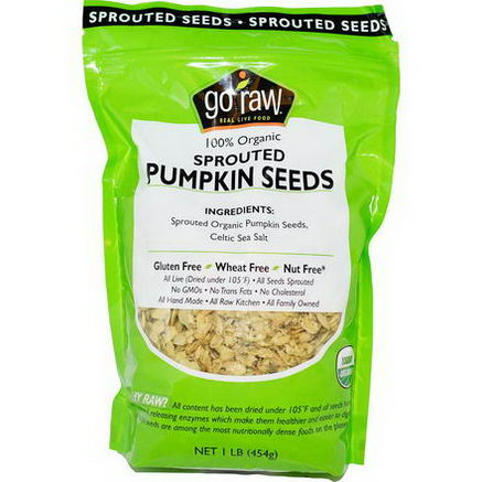 Go Raw, Organic Sprouted Pumpkin Seeds, 1 lb (454g)