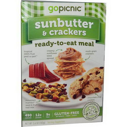 GoPicnic, Ready-To-Eat Meal, Sunbutter & Crackers, 3.6oz (102g)