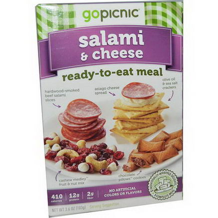 GoPicnic, Ready-to-Eat Meals, Salami & Cheese, 3.6oz (103g)
