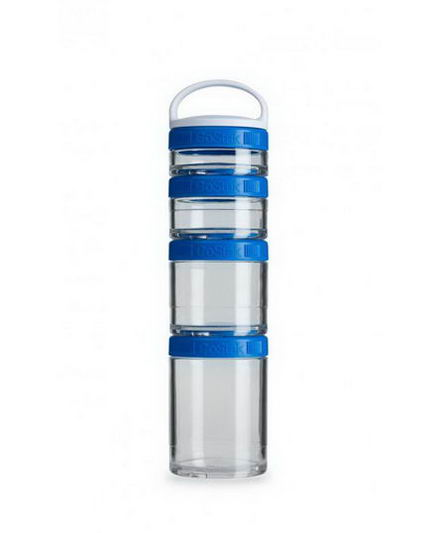 GoStak, Portable Stackable Containers, Blue, 4 Pack