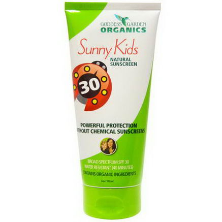 Goddess Garden, Organics, Sunny Kids, Natural Sunscreen, SPF 30, 6oz (177 ml)