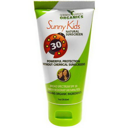 Goddess Garden, Sunny Kids, Natural Sunscreen, SPF 30, 1oz (29.6 ml)