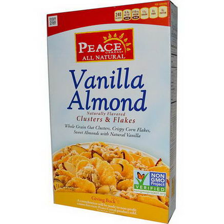 Golden Temple, Peace Cereal, Clusters & Flakes, Vanilla Almond, 11oz (312g)