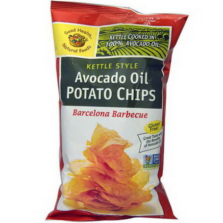 Good Health Natural Foods, Kettle Style Avocado Oil Potato Chips, Barcelona Barbecue, 5oz (142g)
