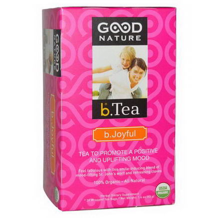Good Nature Teas, Organic, b. Tea, b. Joyful Tea, 20 Tea Bags, 1.4oz (40g)